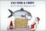 Рыба с картофелем во фритюре