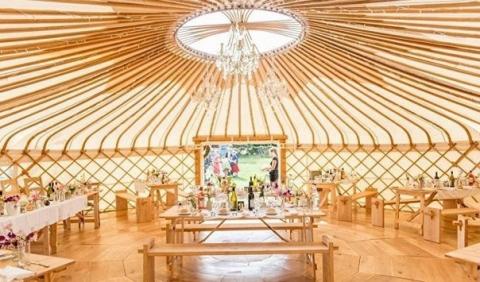 В Великобритании становятся популярными свадьбы в юртах