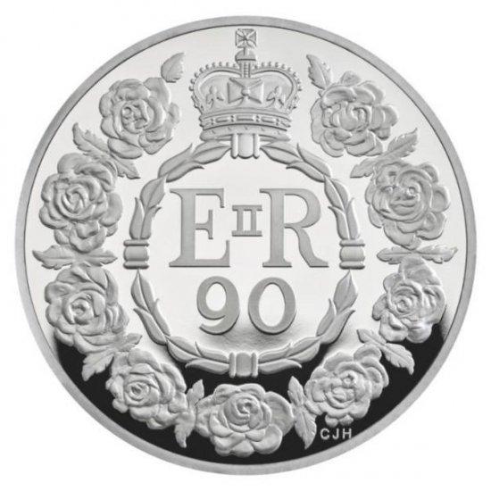 К 90-летию Елизаветы II пятифунтовые монеты украсили геральдическими розами
